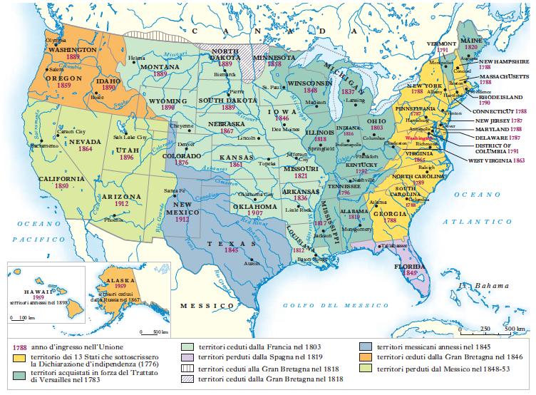 Stati uniti mappa geografica