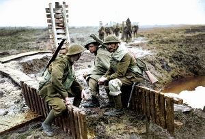 Soldati alleati nella battaglia di Ypres