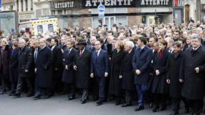 La manifestazione di Parigi dell'11 gennaio, in seguito agli attentati di Charlie Hebdo e del negozio kosher