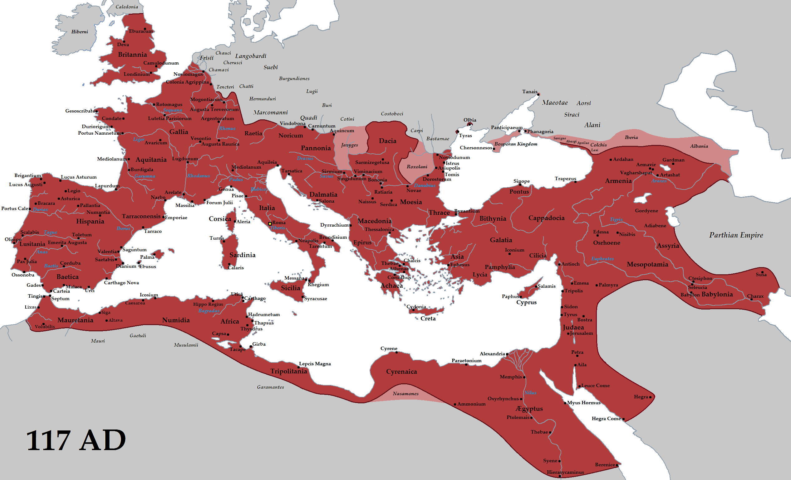 Cartina Antica Roma.L Impero Romano Ascesa E Declino In 30 Mappe Amanti Della Storia