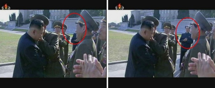 Kim Jong Un con e senza lo zio, Jang Song Thaek