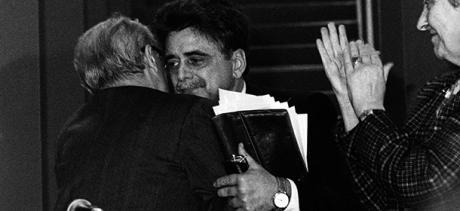 ©lapressearchivio storicopoliticaRoma marzo 1989Achille Occhettonella foto: Occhetto durante il XVIII Congresso del PCIBUSTA 4562